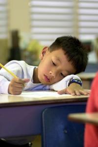 Perspiring Student
